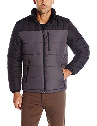 Zeroxposur Men S Flex Quilted Puffer Jacket Slate L